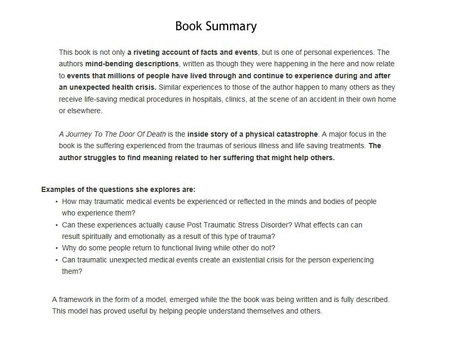 Summary of the Book